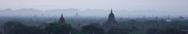 Haze on Bagan temples